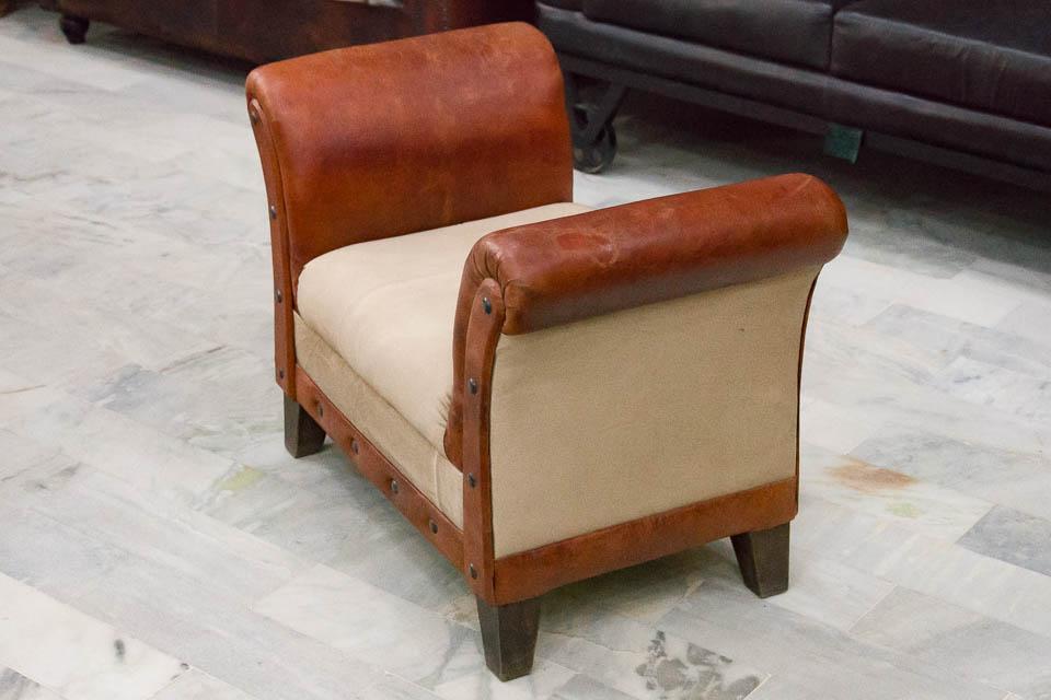 Skórzany Fotel Bez Oparcia