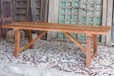Rustykalny stół z grubym blatem - akacja azjatycka - meble indyjskie Orange Tree
