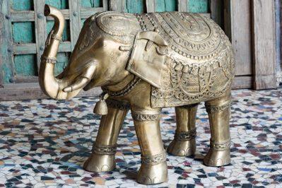 Mosiężny słoń - meble indyjskie Orange Tree