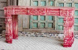 Konsola rzeźbiona i przecierana - meble indyjskie Orange Tree