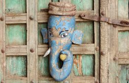 Stara maska słonia, antyk - meble indyjskie Orange Tree