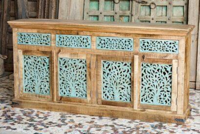 Komoda z ażurowo rzeźbionymi drzwiami - meble indyjskie Orange Tree