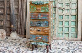"""Bieliźniarka z drewna """"recycled"""" - meble indyjskie Orange Tree"""