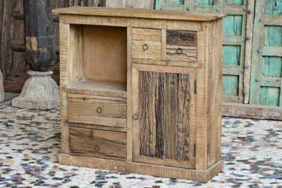 Rustykalna szafka, komoda z drewna kolejowego slipper wood - meble indyjskie Orange Tree