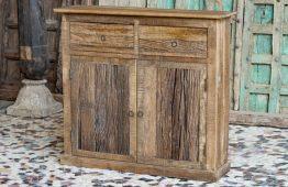 Rustykalna komoda z drewna kolejowego slipper wood - meble indyjskie Orange Tree