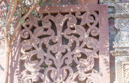 stary panel rzeźbiony w czerwonym piaskowcu Orange Tree meble indyjskie