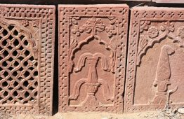 Rzeźbiony kamień czerwony piaskowiec Jodhpur - Orange Tree meble indyjskie