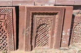 Rzeźbiony kamień czerwony piaskowiec Bikaner - Orange Tree meble indyjskie