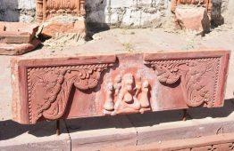 Rzeźbiony kamień z Ganesh czerwony piaskowiec Jodhpur - Orange Tree meble indyjskie