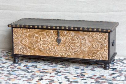 Rzeźbiony kufer skrzynia - Orange Tree meble indyjskie
