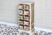 Komódka z kolorowymi szufladkami - Orange Tree meble indyjskie