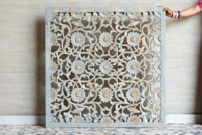 Ażurowy panel rzeźbiony - Orange Tree meble indyjskie