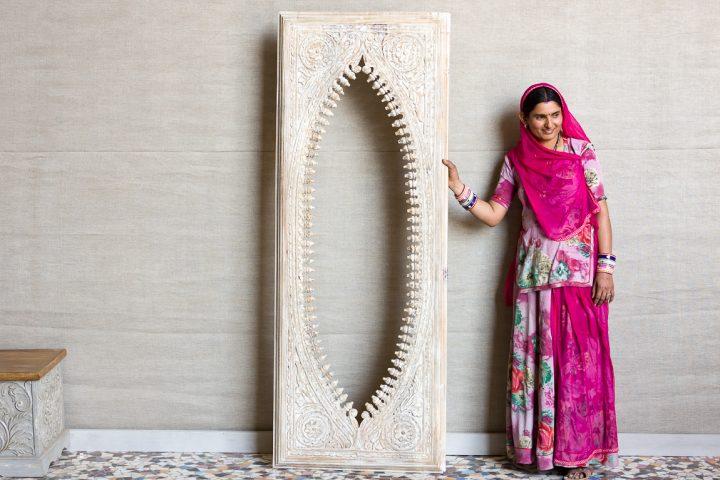 Rama do lustra obrazu rzeźbiona - Orange Tree meble indyjskie