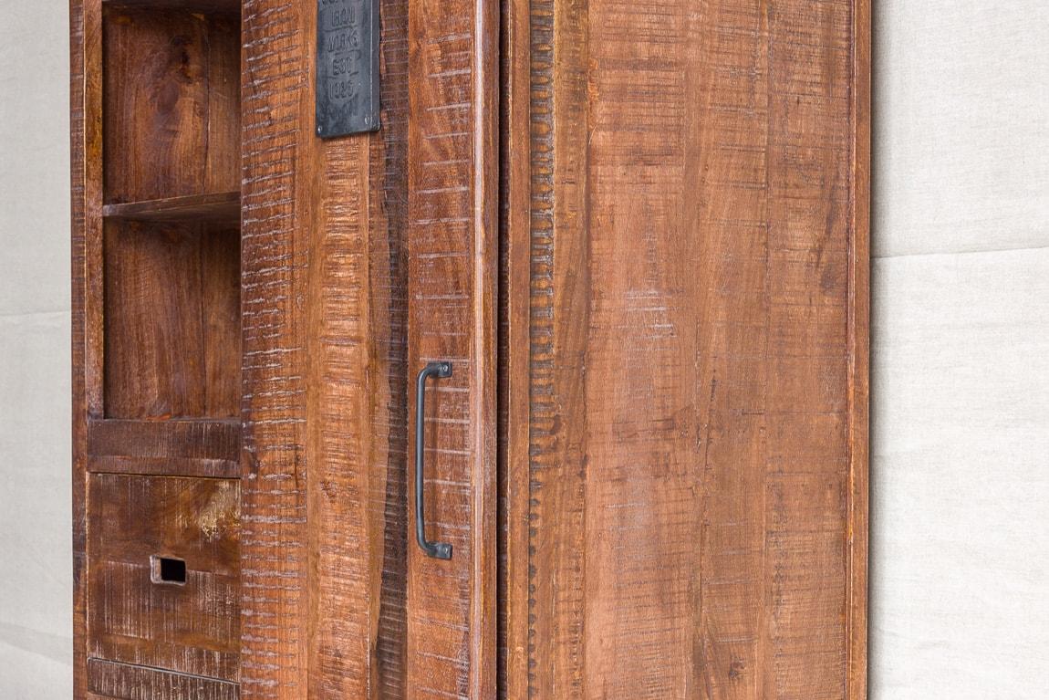 Duża szafa rustykalna z przesuwnymi drzwiami - Orange Tree meble indyjskie