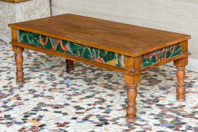 Ława kawowa drewno tekowe, rzeźbiona - Orange Tree meble indyjskie