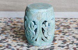 Rzeźbiony taboret lub stolik - Orange Tree meble indyjskie