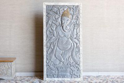 Rzeźbiony panel obraz z Ganeszą - Orange Tree meble indyjskie