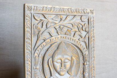 Rzeźbiony panel obraz z Buddą - Orange Tree meble indyjskie