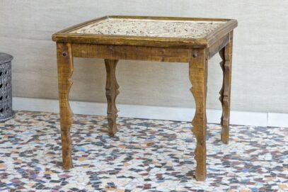 Stół jadalny z rzeźbionym blatem - Orange Tree meble indyjskie