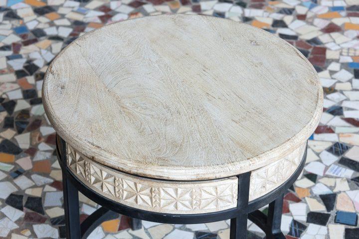 Okrągły stolik mango - Orange Tree meble indyjskie