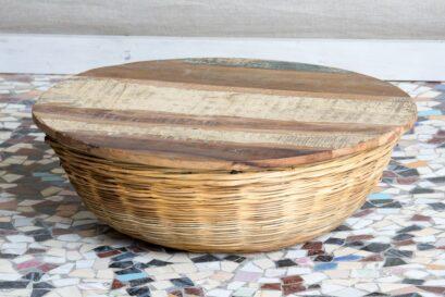 Niski stolik wiklinowy recycled - Orange Tree meble indyjskie