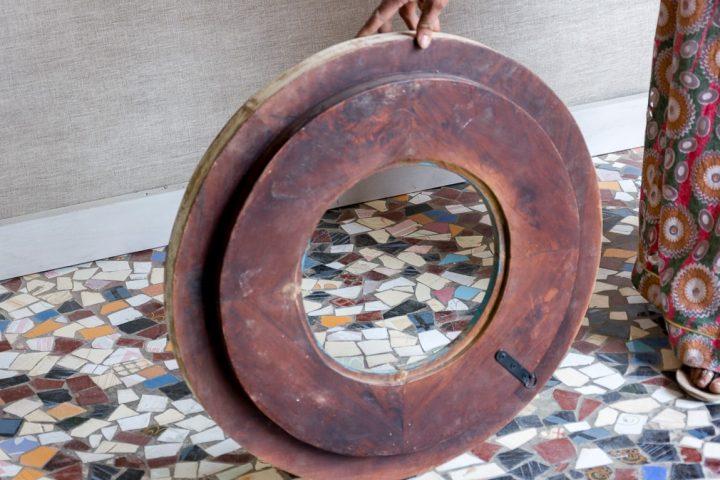 Okrągła rama ze stożkami - Orange Tree meble indyjskie