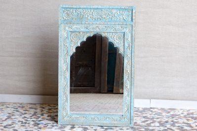 Rzeźbione lustro z łukiem - Orange Tree meble indyjskie