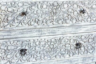Bielona bieliźniarka mango - Orange Tree meble indyjskie