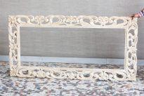 Bielona rama do lustra obrazu - Orange Tree meble indyjskie