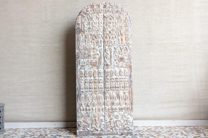 Panel ozdobny z płaskorzeźbami, drzwi - Orange Tree meble indyjskie