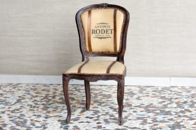 Krzesło vintage z płótnem - Orange Tree meble indyjskie