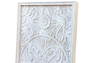 Bielony panel z mandalą - Orange Tree meble indyjskie