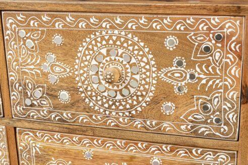 Bieliźniarka z koronką i lusterkami - Orange Tree meble indyjskie