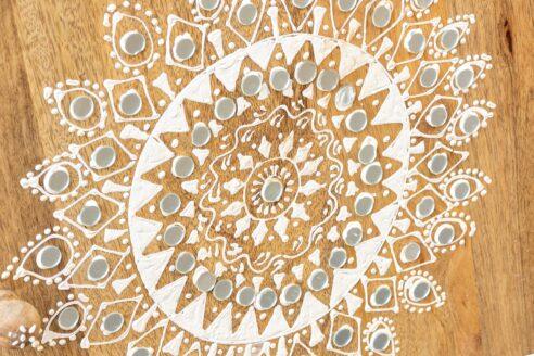 Długa komoda z koronką i lusterkami - Orange Tree meble indyjskie