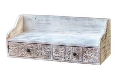 Półka wisząca z szufladkami - Orange Tree meble indyjskie
