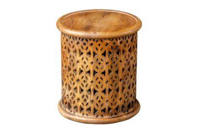 Okrągły stoliczek ażurowy - Orange Tree meble indyjskie