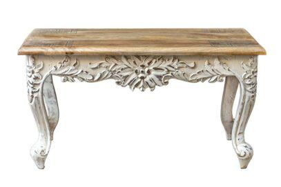 Bielony stolik z giętymi nóżkami - Orange Tree meble indyjskie