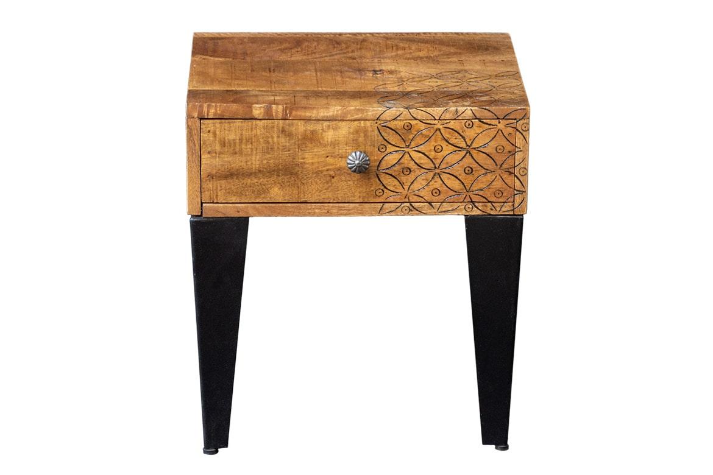 Nowoczesny stolik z szufladką - Orange Tree meble indyjskie
