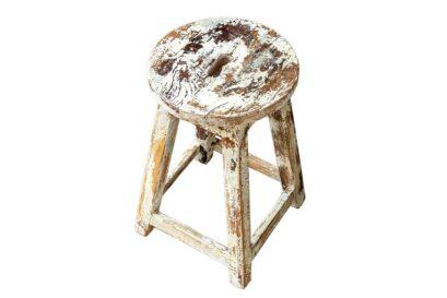 Rustykalny stołek kuchenny - Orange Tree meble indyjskie