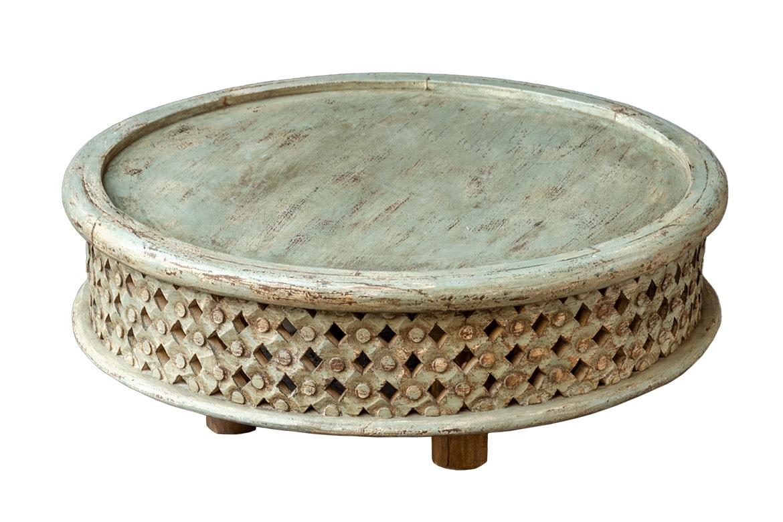 Niski okrągły stolik - Orange Tree meble indyjskie