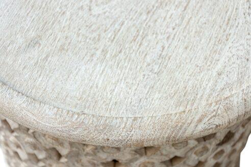 Okrągły stolik bielony - Orange Tree meble indyjskie