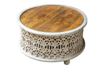 Okrągły stolik 80cm - Orange Tree meble indyjskie