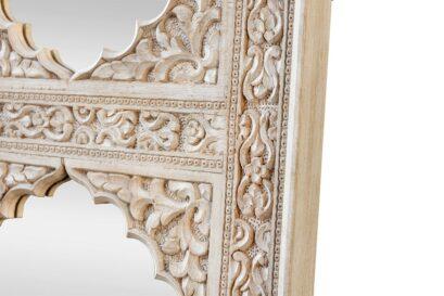 Rzeźbiony panel z lustrami - Orange Tree meble indyjskie
