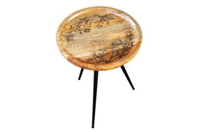 Okrągły stolik na trójnogu - Orange Tree meble indyjskie