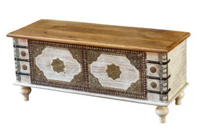 Kufer zdobiony mosiądzem - Orange Tree meble indyjskie