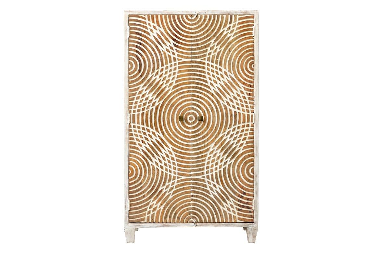 Afrykańska szafa z okręgami - Orange Tree meble indyjskie