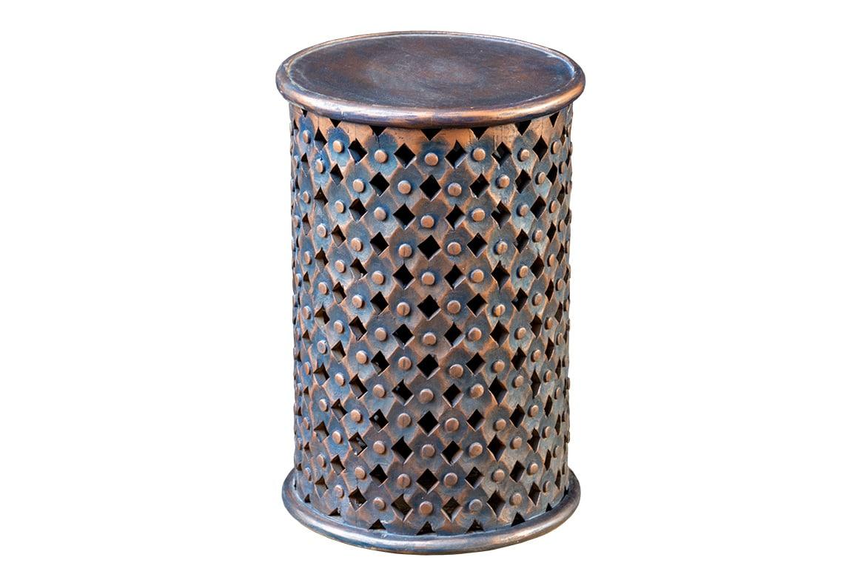 Okrągły ażurowy stolik - Orange Tree meble indyjskie