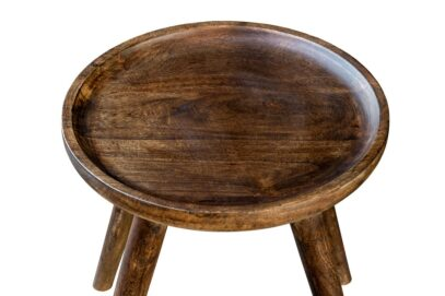 Stolik z okrągłym blatem - Orange Tree meble indyjskie