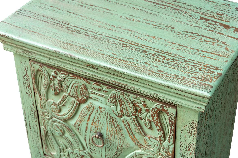 Zielona szafka z szufladami - Orange Tree meble indyjskie