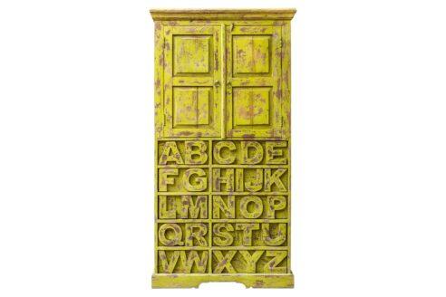 Regał z literami alfabetu - Orange Tree meble indyjskie